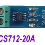 Monitorizarea amperajului cu ajutorul senzorului ACS712